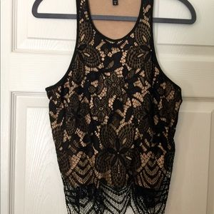 Black Express Lace Top